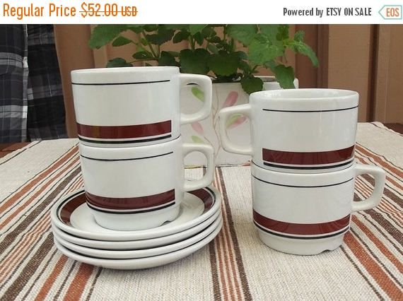Summer sale 20% Vintage Figgjo Norway Four Espresso Cups and