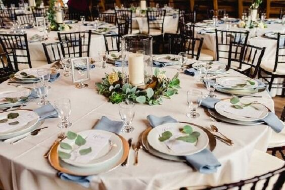 Romantic Dusty Blue March Wedding Color Ideas  – Wedding | Deko