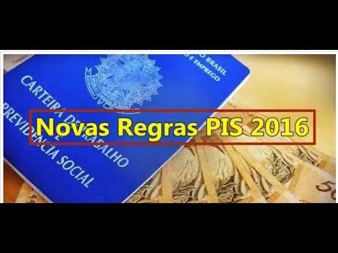 Novas regras do PIS para Calendário do PIS 2016/2017