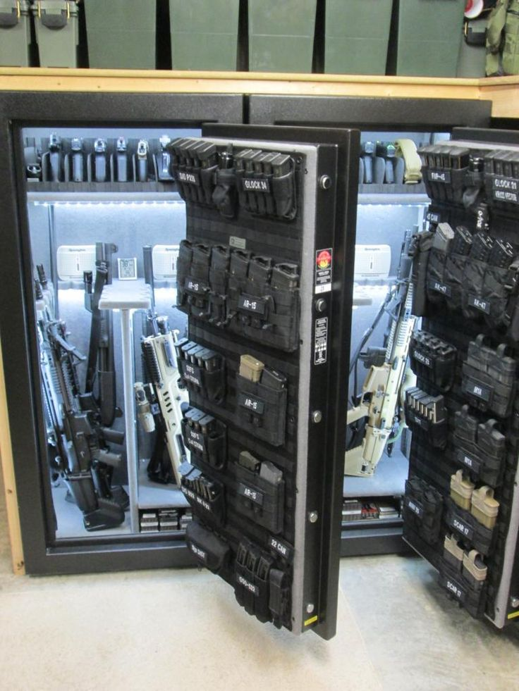 PIMP MY GUN SAFE 2015 (Doing It With Twins!) - LED Lights, MOLLE Panel, Name Tapes