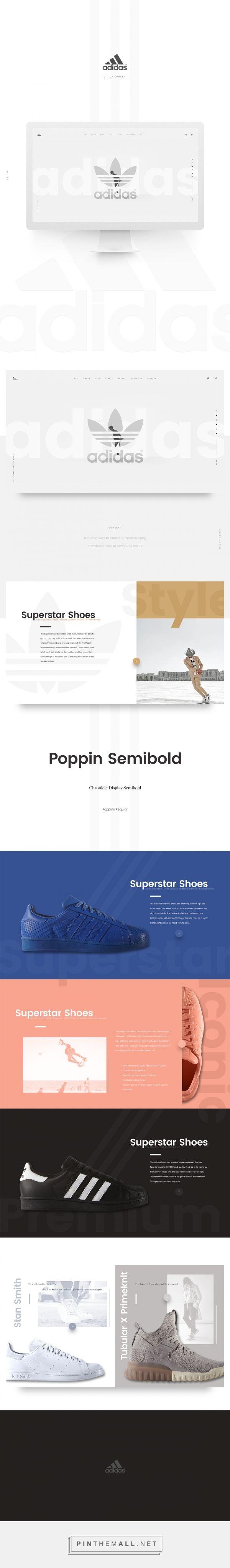 Adidas Re-Design on Behance - created via https://pinthemall.net