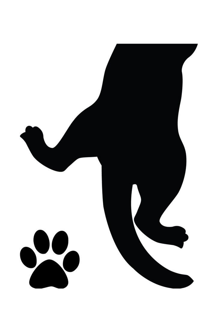 Vente Ambiance l'Esprit Déco / 15212 / Animaux / Sticker pattes de chat Noir