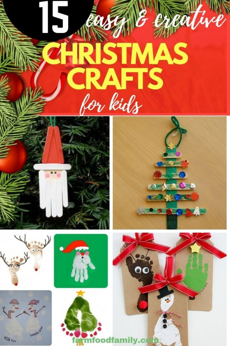 Simple Christmas 2020 15 Easy, Inexpensive, and Creative Christmas Crafts for Kids For