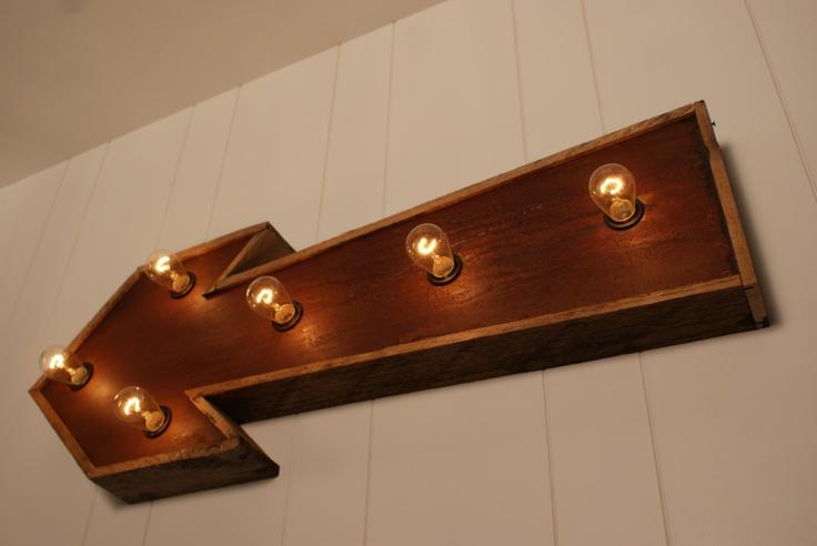 Rustic Marquee Arrow Light