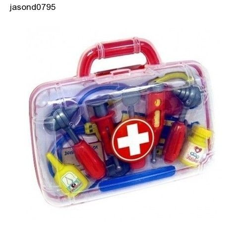 Medical Carrycase Doctors Nurses Bag Toy Playset Gift Kids Learning Role Play