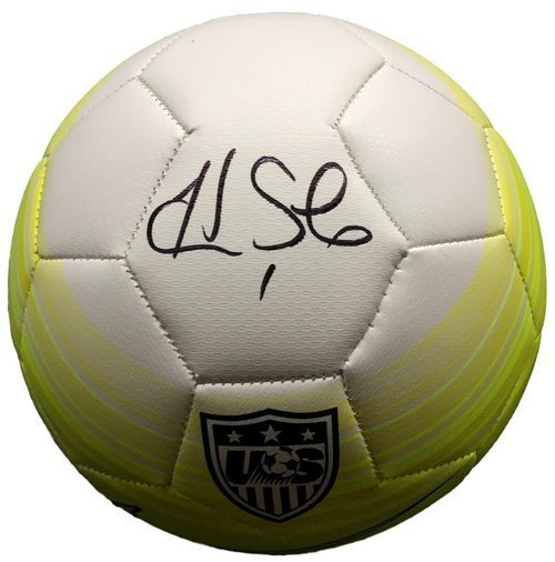 Hope Solo USA Women's Soccer Signed Authentic Yellow Nike Soccer Ball JSA