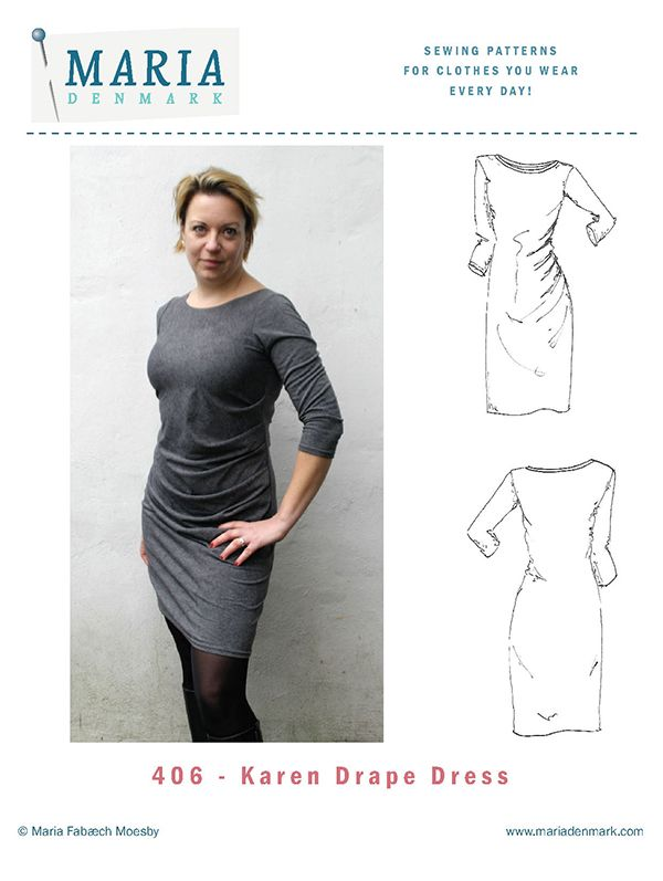 The Karen Drape Dress will make you look and feel gorgeous. And it's easy and fast to sew. So yes. You can make it in time for the party tomorrow!