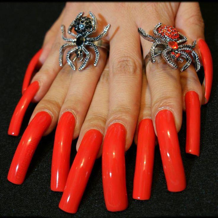 Sexy long fingernails
