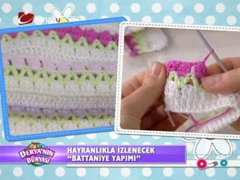 """Derya Baykal - Deryanın Dünyası - """"Battaniye yapımı"""" 26.03.2014"""