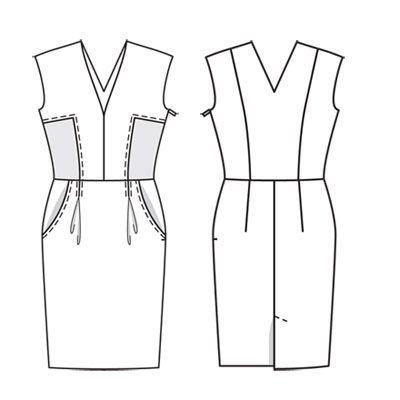 Платье - выкройка № 110 из журнала 7/2011 Burda – выкройки платьев на Burdastyle.ru