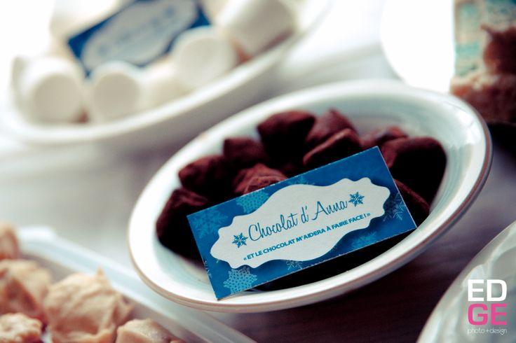 Chocolat d'Anna pour fête Reine des Neiges