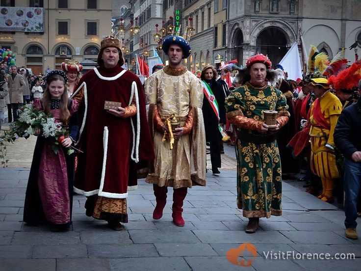The Three Kings in Piazza del Duomo - see more pics at http://www.florencepictures.com/events/cavalcade-three-kings-epiphany/