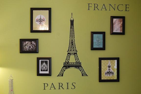 Paris room in Annie's favorite color.