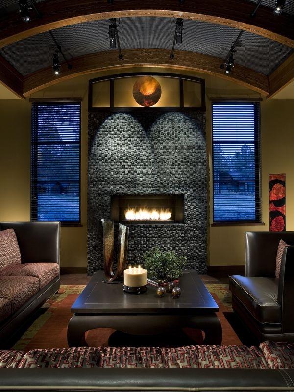 FireplaceMountain Retreat, Interiors, Luxury Interior, Beautiful Fireplaces, Modern Living Room, Sitting Room, Contemporary Living Rooms, Beautiful Room, Fake Fireplaces