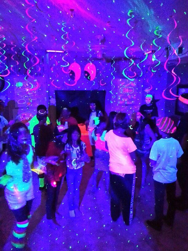 Madi's Blacklight party