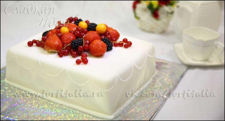 Сметанно фруктовый торт фото рецепт