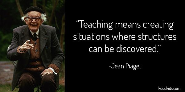 Jean Piaget Quote, one of the many figures who inspires our company and influences our product design every day!