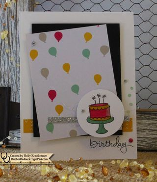 Endless Birthday Wishes Photopolymer Stamp Set item #140273 It's My Party Designer Series Paper Stack item #140552 Silver Glimmer Paper item #135314 Stampin' Up! Demonstrator Holly KrautkremerEndless Birthday Wishes