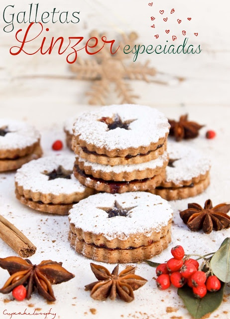 Spiced Linzer cookies for Christmas, from Donna Hay