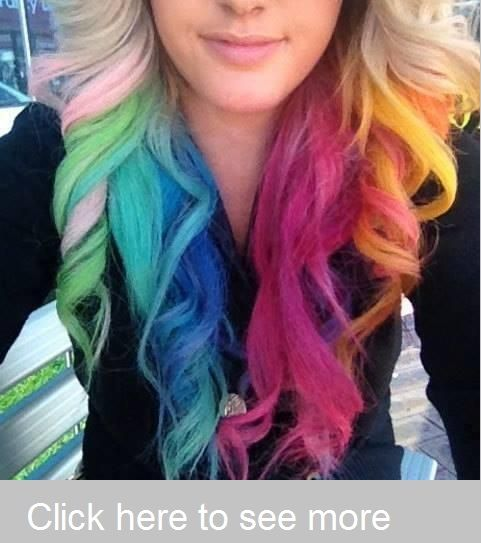 Pictures in color hairs