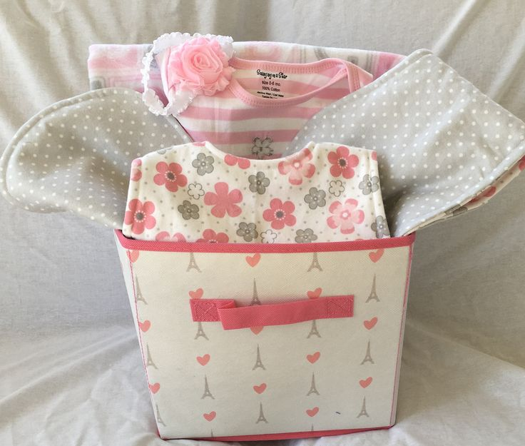 Baby Girl Gift Basket, Baby Gift Basket, Baby Girl Shower Gift, Baby Shower Gift, Baby clothing, girl clothing,  FREE SHIPPING by SCSewingCreations on Etsy
