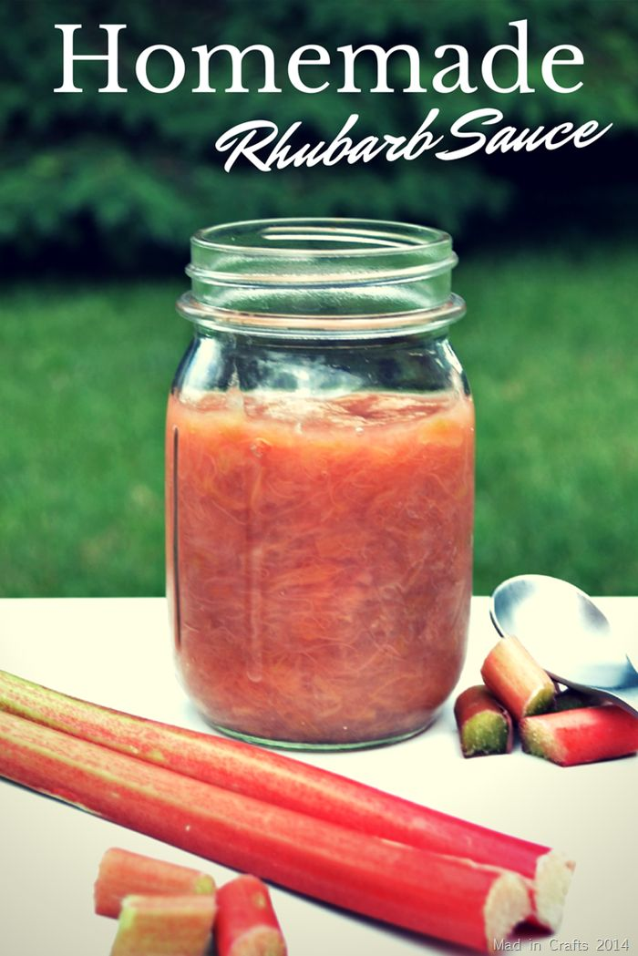 √    Homemade Tart Rhubarb Sauce Recipe (just 3 ingredients!) - Mad in Crafts