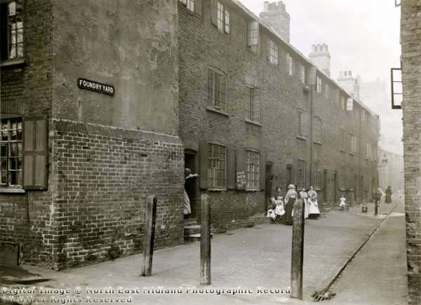 Foundry Yard, Red Lion Street, Nottingham, 1901.