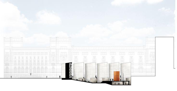 Plaza Theatre in Roma Piazza del Parlamento, University of Genova 2014, section.  M. Di Sibio, E.Giuliano, G.Grasso