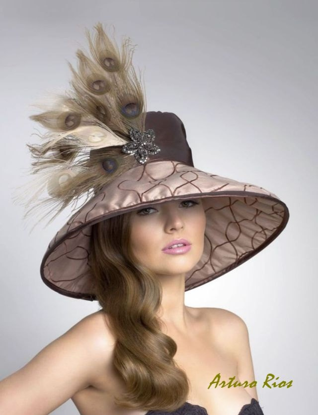 Couture Derby HatLampshade Hat by ArturoRios on Etsy, $210.00