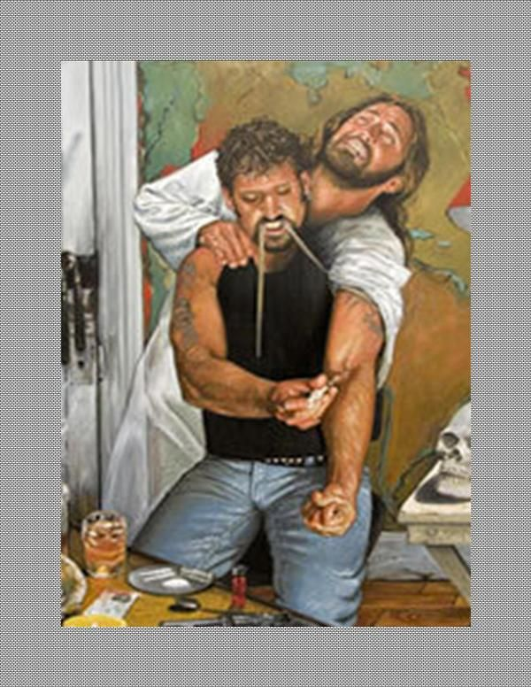What we do unto others and ourselves so we do unto God....hard image to swallow...nothing but reality