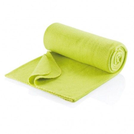Fleece deken, limegroen