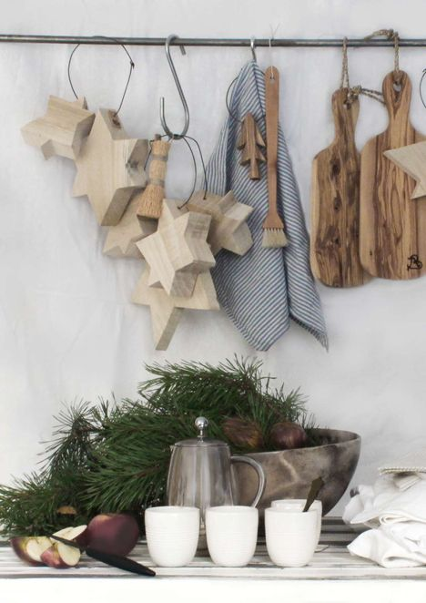 big chunky wood stars. These would be cool stained or white washed.