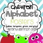Chevron Alphabet Posters and Word Wall Letters (available in other colors, as well)