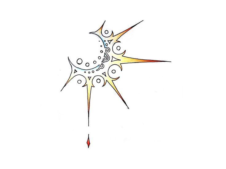 Abstract Sun In Yellow Tattoo Design - 2013/05/04 - Tattoo #392 ~ Semar88.Com