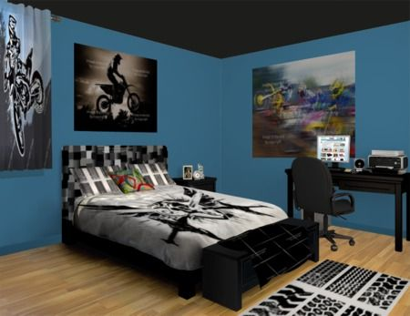 22 best images about cohen bedroom on pinterest twin for Dirt bike bedroom ideas