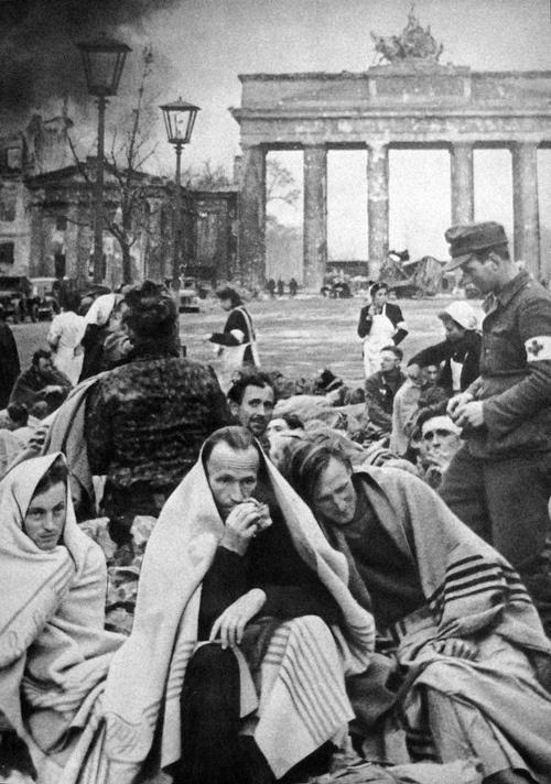 German POWs in Berlin - 1945  Photo by Ivan Shagin #Germany #WWII #War