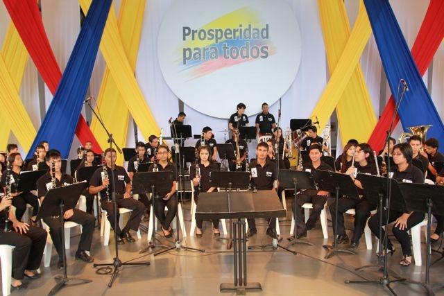 La Orquesta a punto.  Crédito Miltón Ramírez/MinCultura 2012