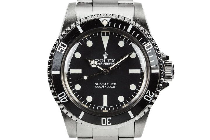 HQ Milton - Vintage 1983 Rolex Submariner 5513 MK V Maxi Dial with Box and Papers, Inventory #9456, For Sale