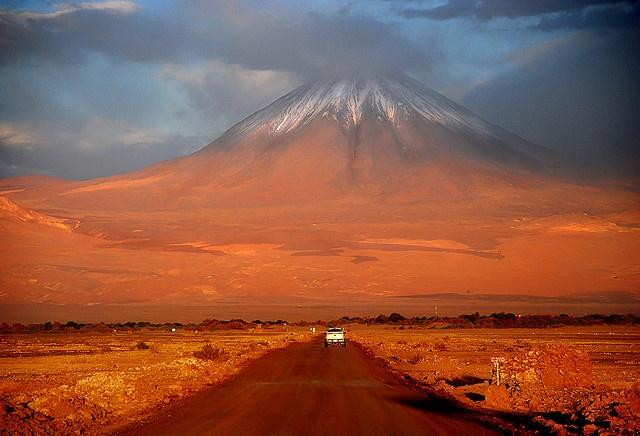 Licancabur Volcano on the Chile-Bolivia border