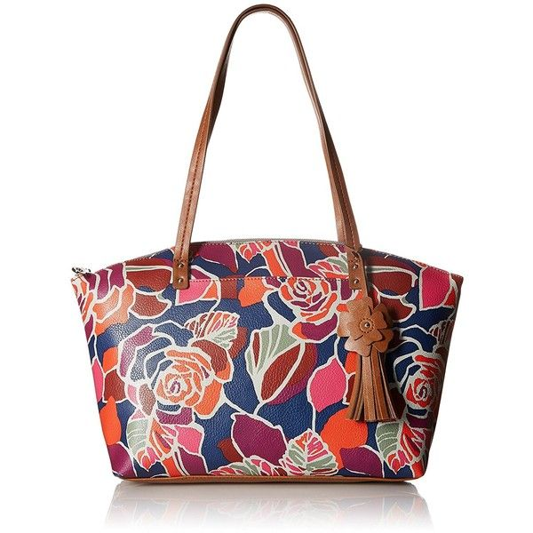 Relic Caraway Tote Rose ($64) ❤ liked on Polyvore featuring bags, handbags, tote bags, rose purse, studded handbags, studded purse, shoulder strap purses and studded tote bag