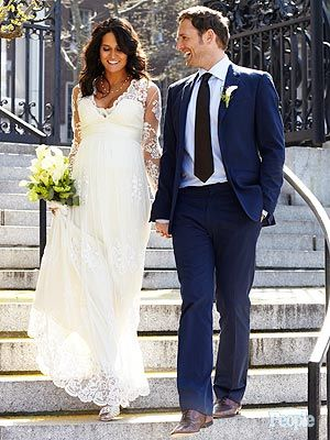 Jessica Clencin HenriquezCelebrities Happily, Dresslacey 70S, Celebrities Wedding, Dresses Lacey 70S, Jessica Henriquez, Pregnant Brides, The Dresses, Lace Dresses, Josh Lucas