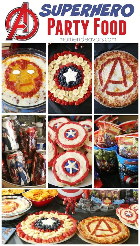 Superhero Party Food Ideas. Pizza, cookies, favors and more!