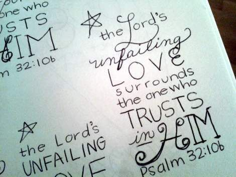 Scripture doodle journal and canvas art