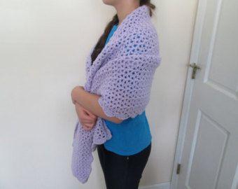 Crochet chal de oración con caperuza por SandysHomemadeCrafts