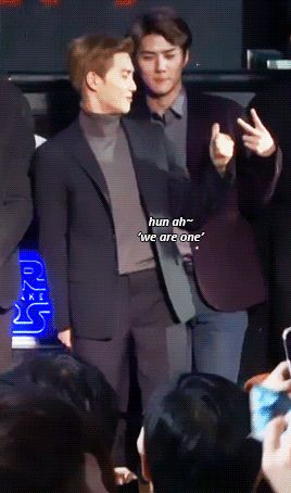Sometimes, mom suho doesn't understand that son sehun wants to be cool in front of people ^^ (1/2)