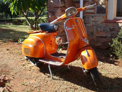 I watched a movie recently in which a group of community college kids started a scooter gang.  I immediately wanted to join, and ever since I've had dreams of cruising the streets hardstyle on a sparkly orange Vespa.  it's gonna happen...mark my words.