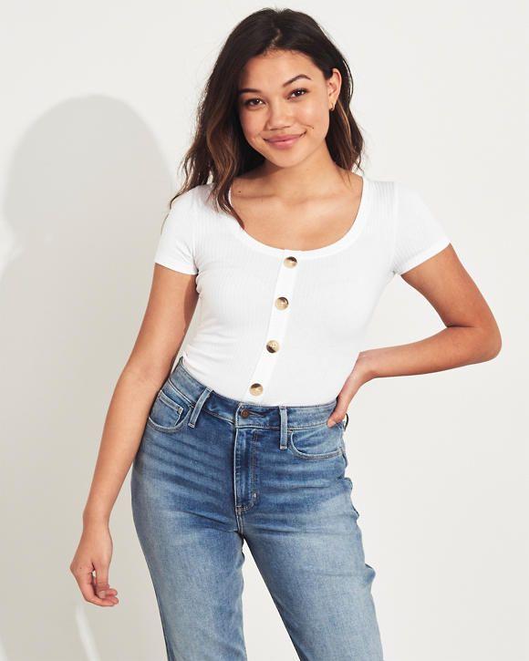Girls Slim Henley T Shirt | Girls Tops |