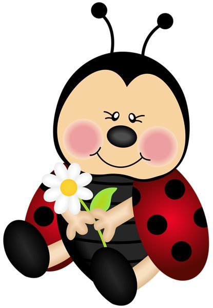 Lady Bug Cartoon PNG Clip Art Image