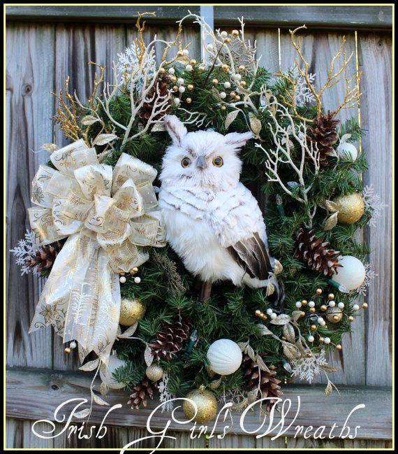 owl wreathby irishgirlswreaths