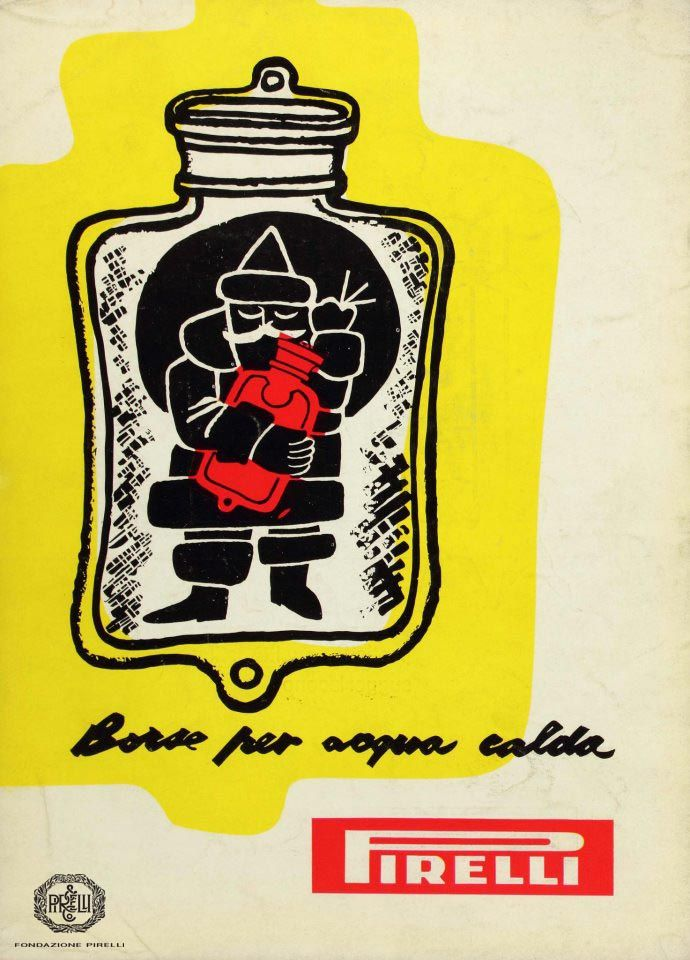 Fulvio Bianconi, advertisement for Pirelli hot water bottles, 1955 http://www.fondazionepirelli.org